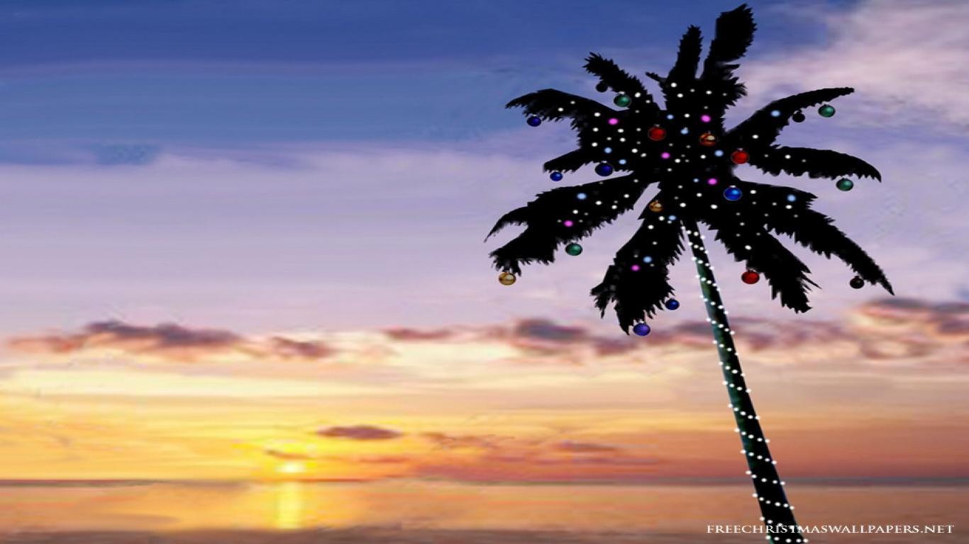 Tropical christmas wallpaper