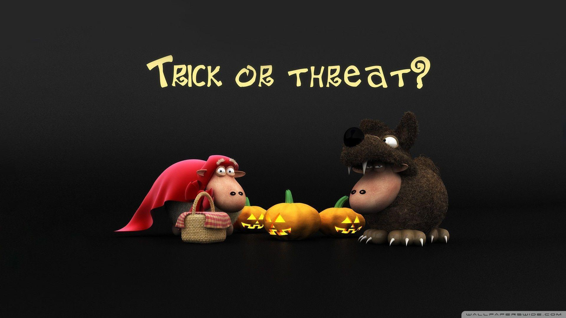 Download Halloween Sheeps Trick Or Threat Screen Wallpaper ...
