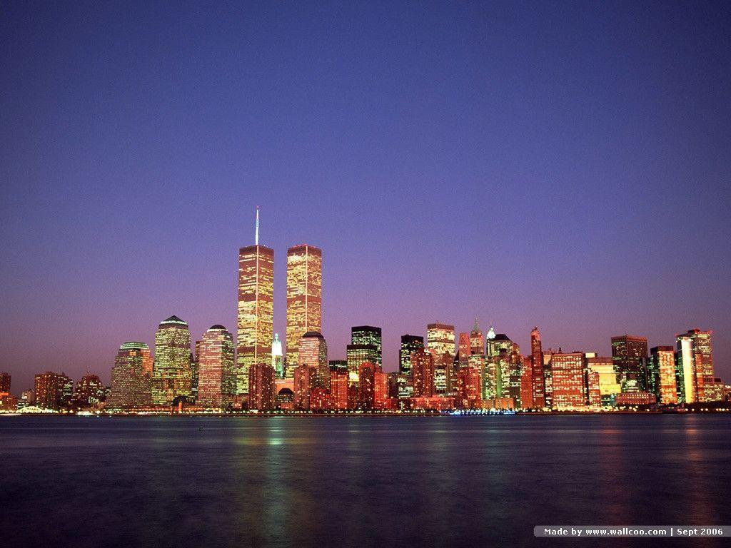 Twin towers wallpapers wallpaper cave - New york skyline computer wallpaper ...