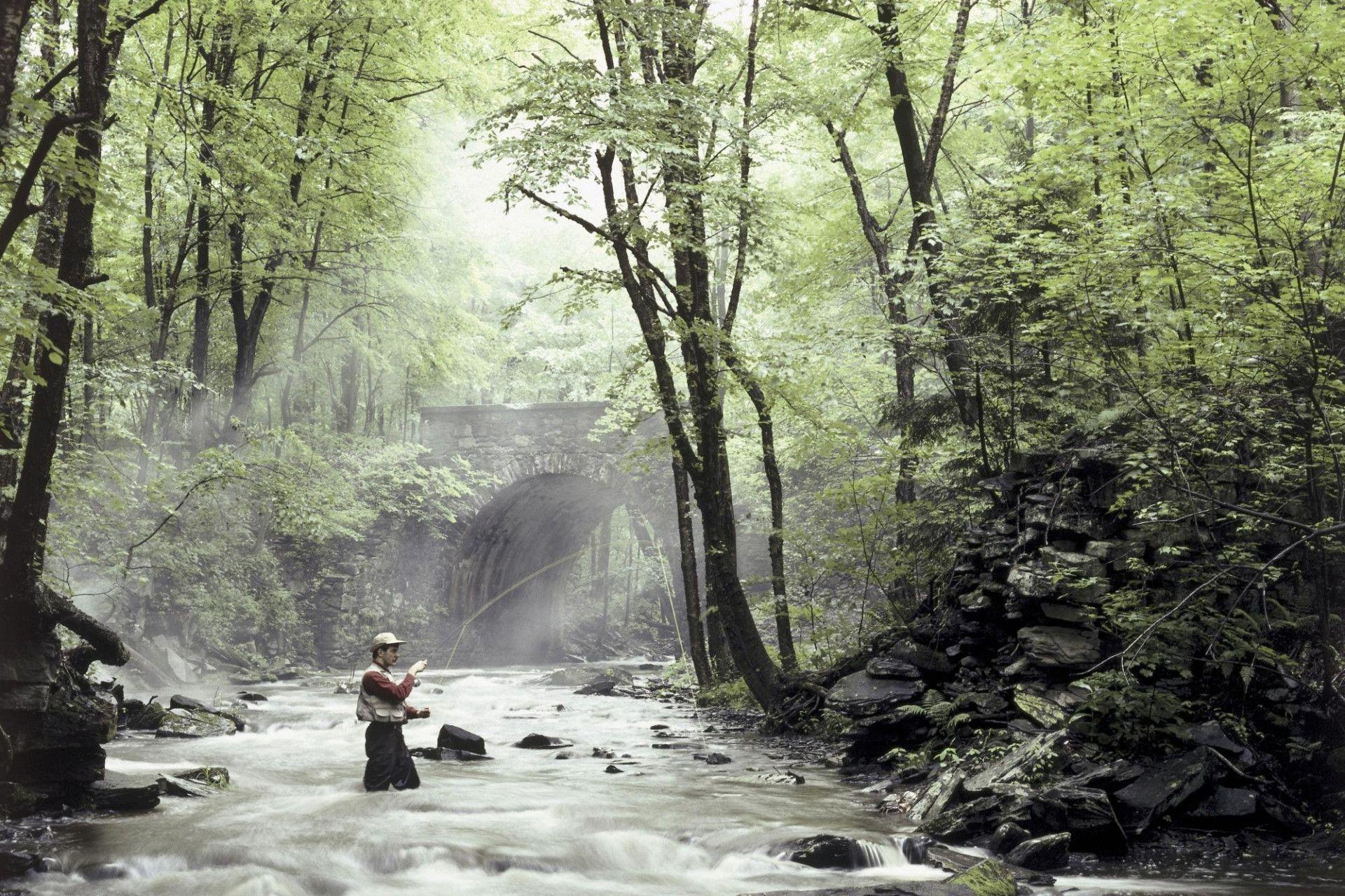 Fishing backgrounds wallpaper cave for Fly fishing wallpaper
