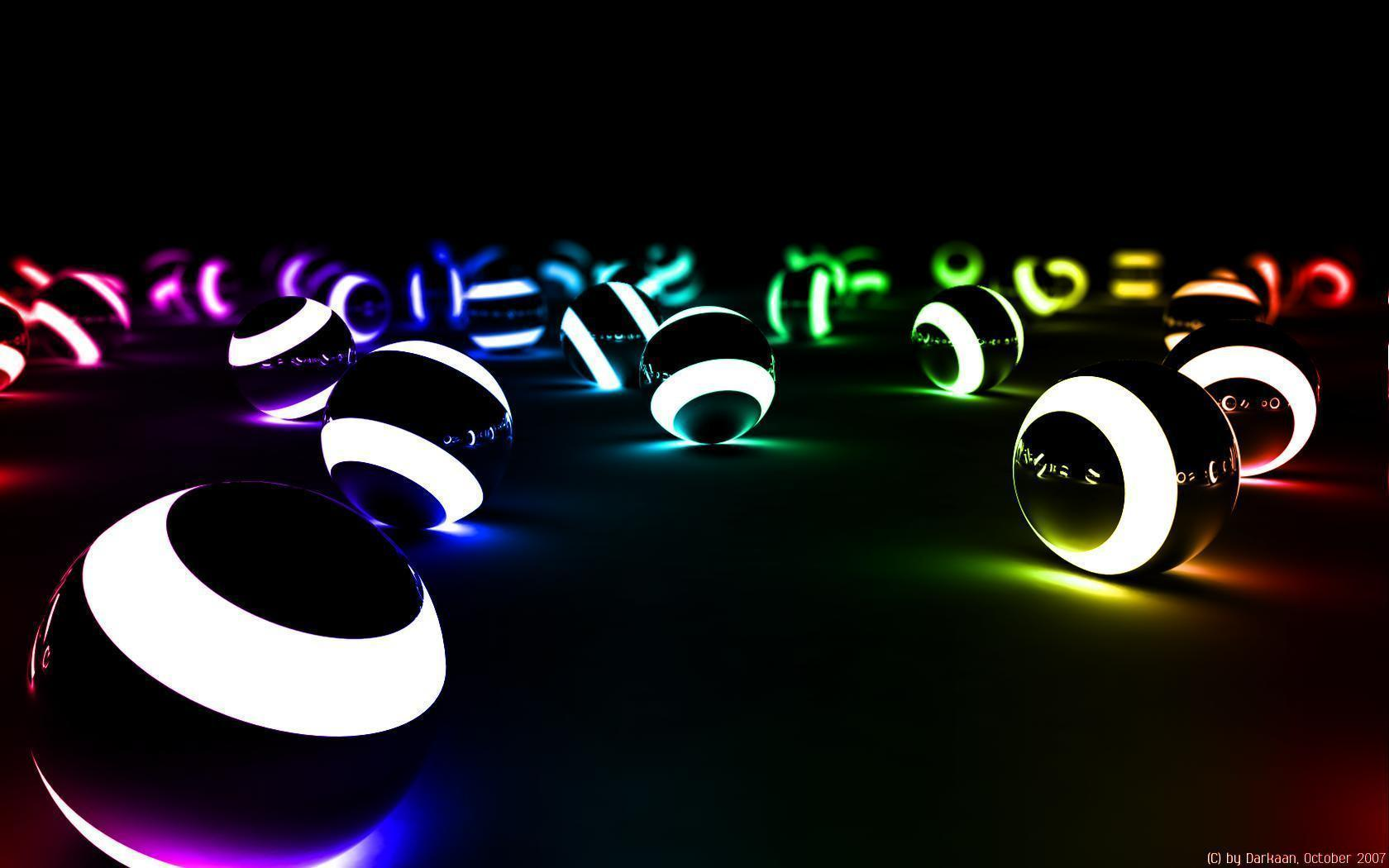 Colorful 3d Wallpaper Ball 242 Full HD Desktop