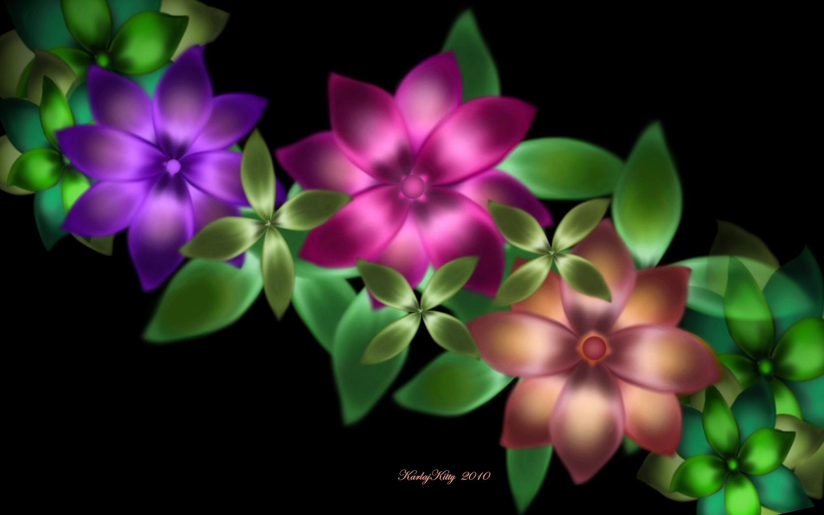 exotic green flower wallpapers - photo #2