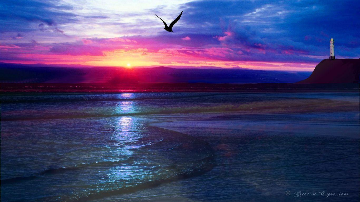 ocean sunset wallpaper desktop sunset wallpapers wallpaper cave 313