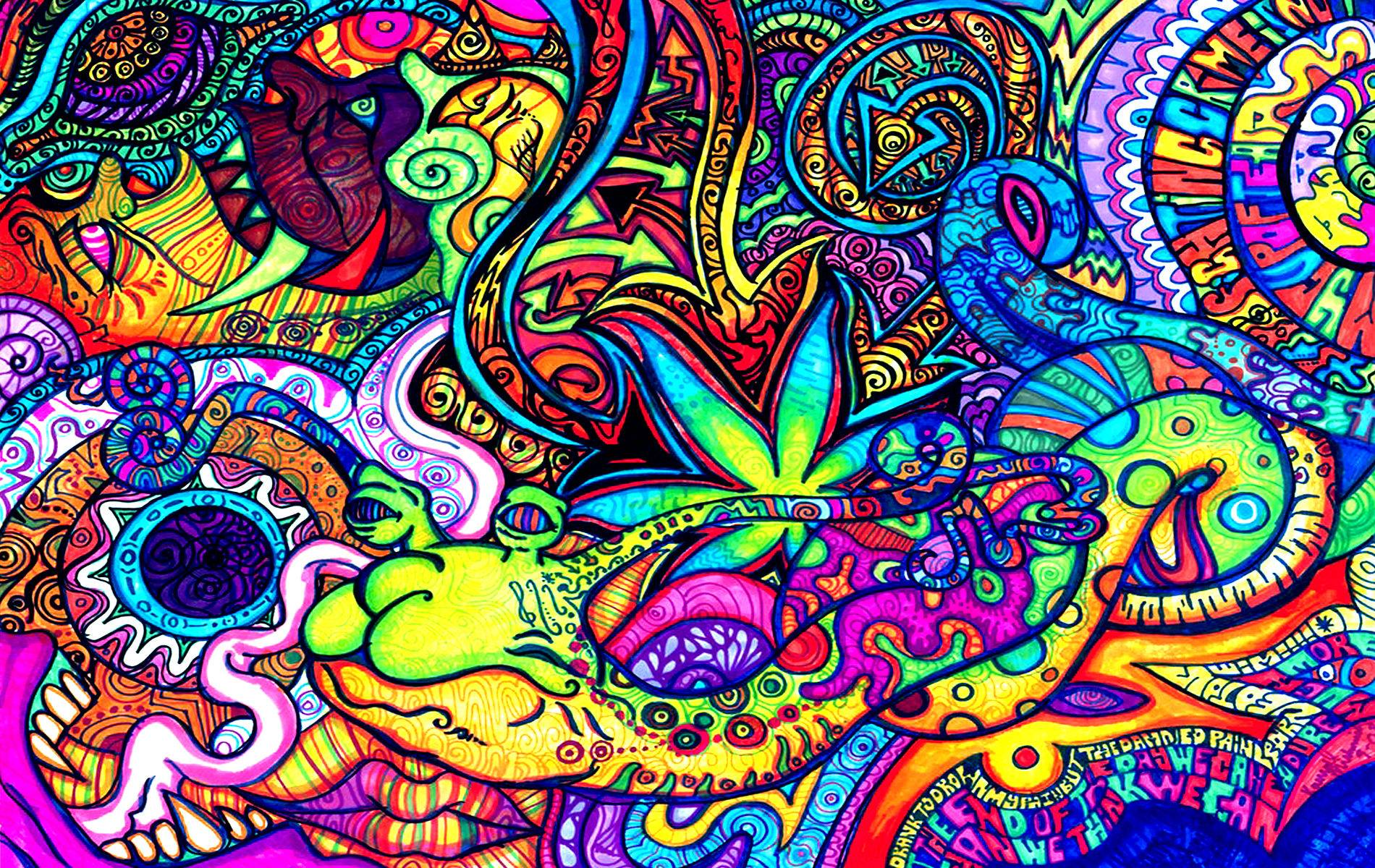 Images For > Artistic Psychedelic Wallpapers
