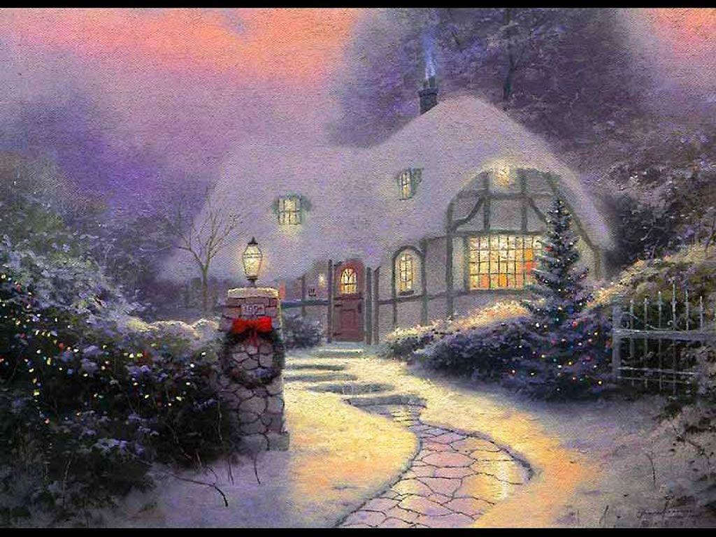 Download Christmas Buildings Wallpapers Christmas Cottage Wallpapers