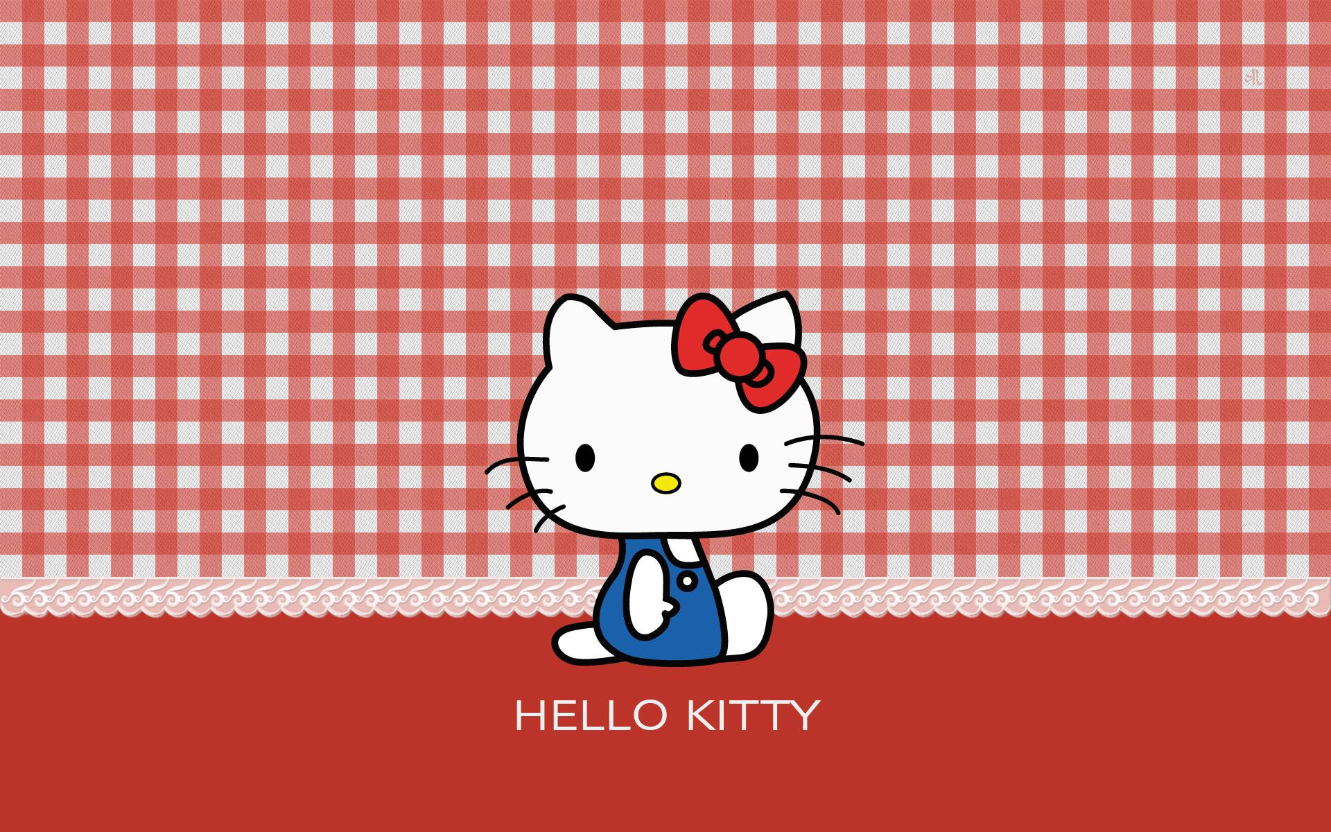 wallpapers for black and red hello kitty background