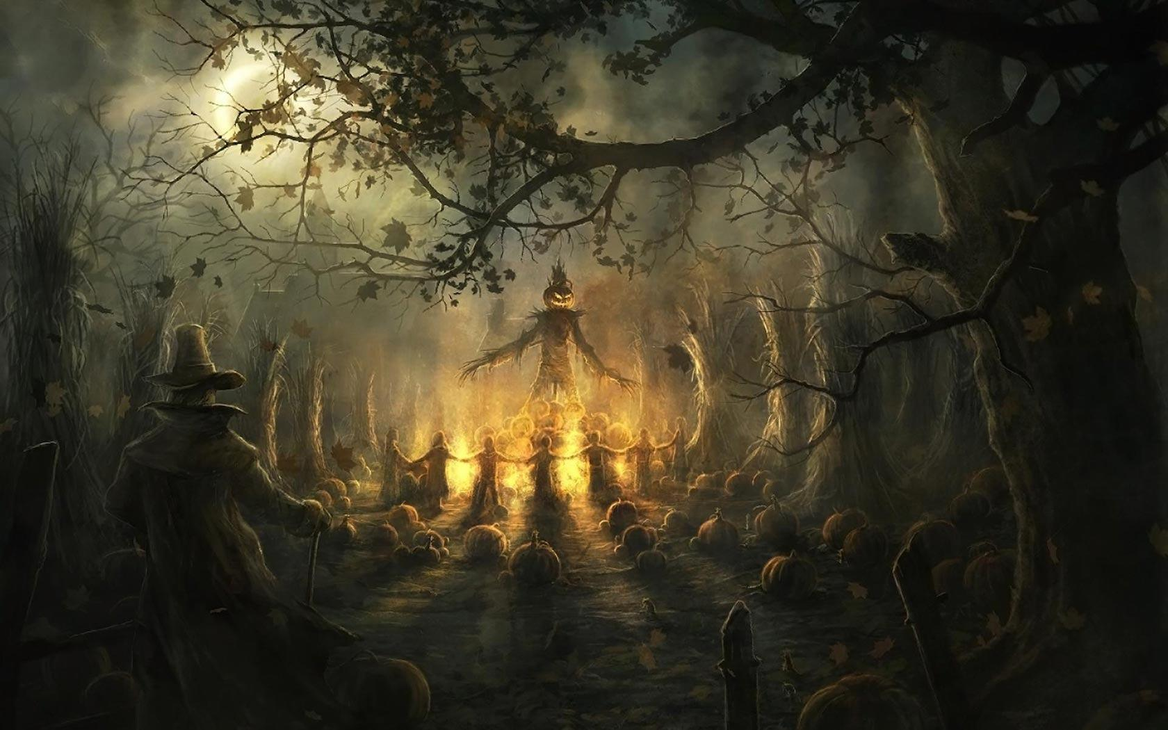 Halloween Haunted House Wallpaper 2