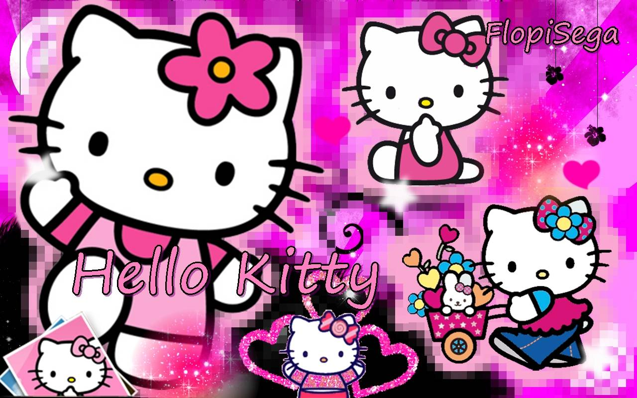 Pretty in pink hello kitty wallpaper~