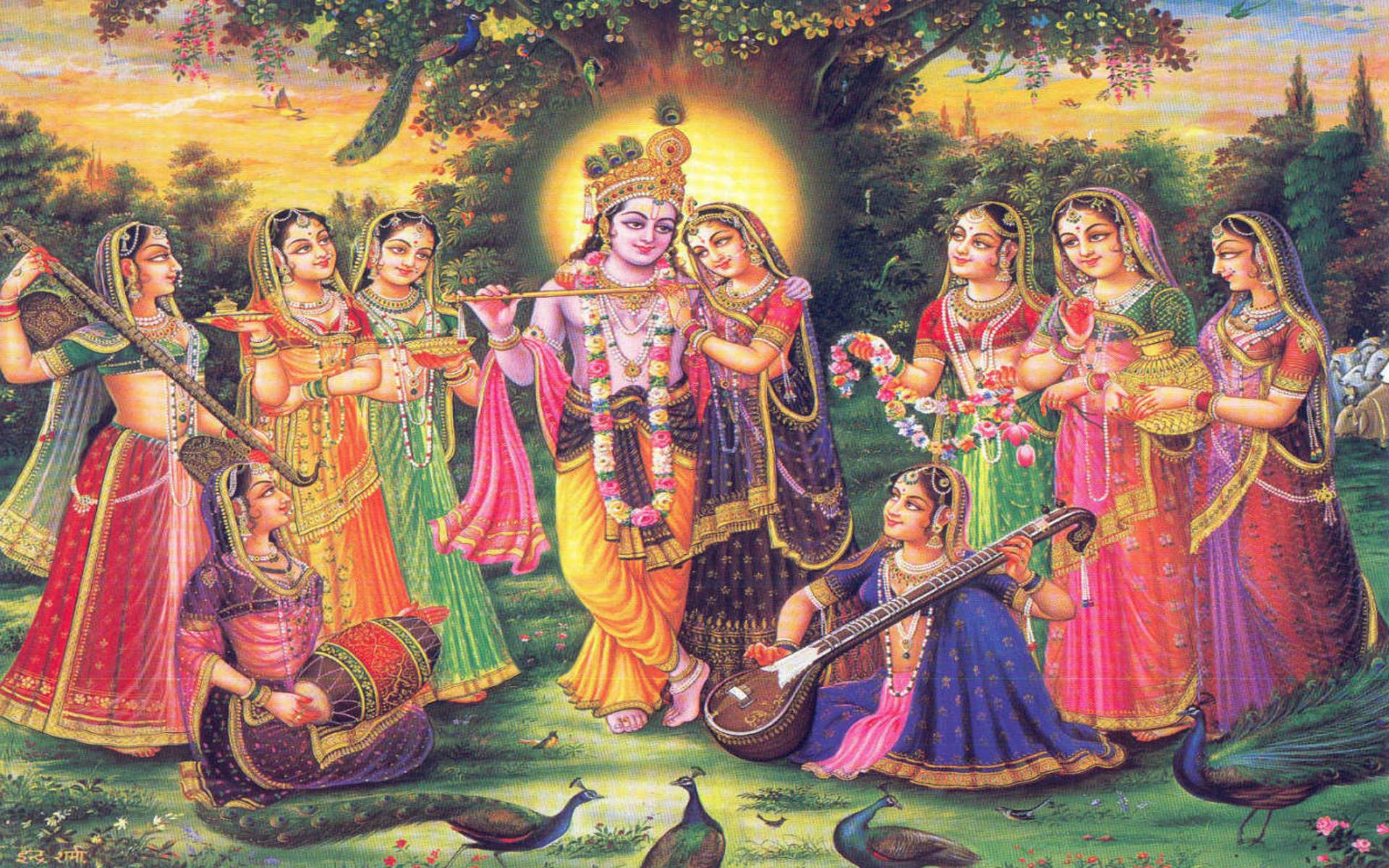 Wallpapers For > Shree Krishna Radha Wallpaper