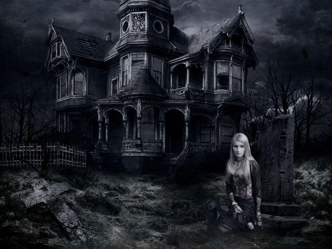 haunted house wallpaper - photo #7