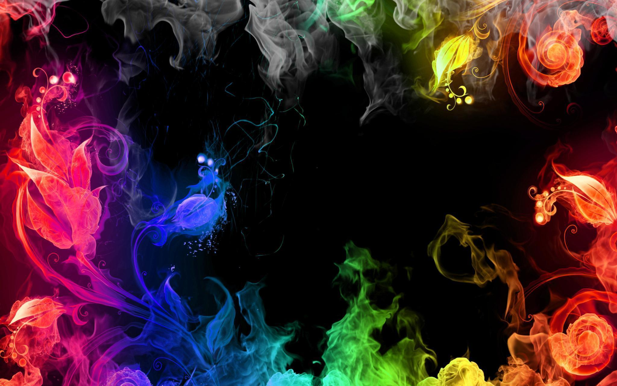 rainbow smoke wallpapers r - photo #35