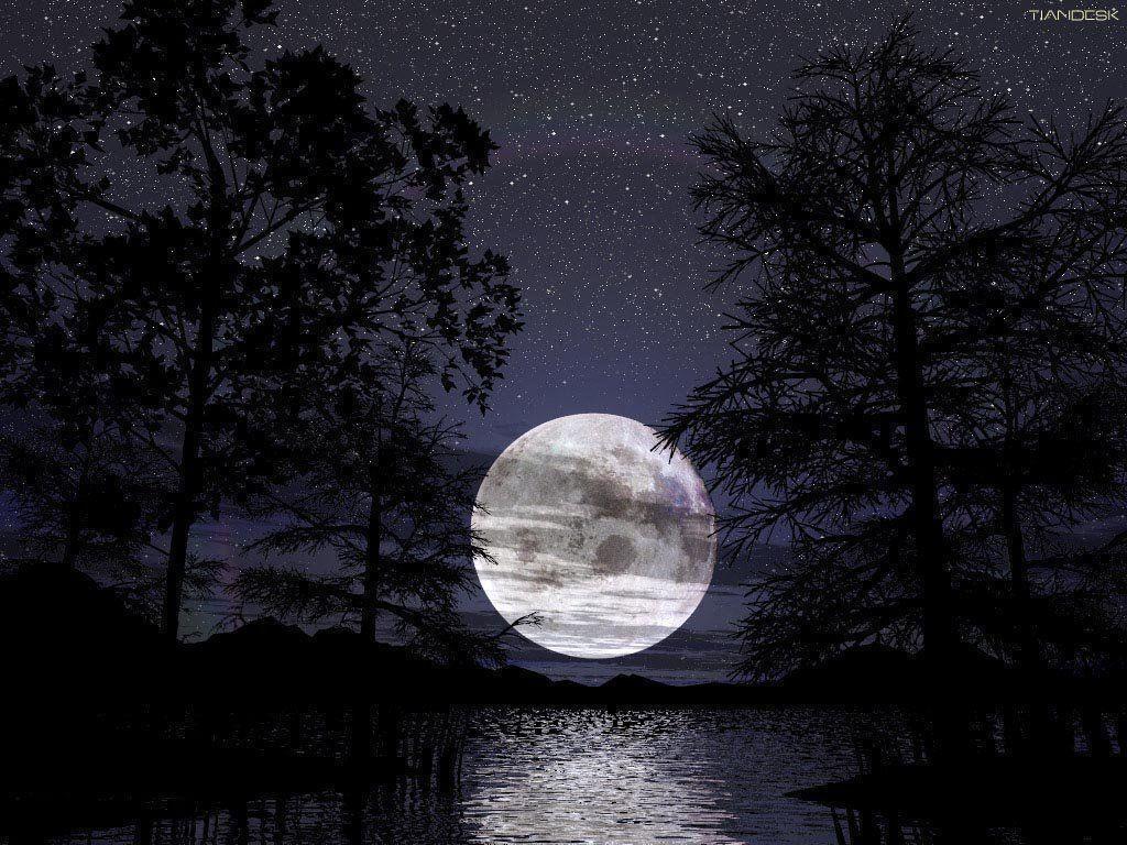 Full Moon Wallpaper Desktop | High Quality PC Dekstop Full HD ...