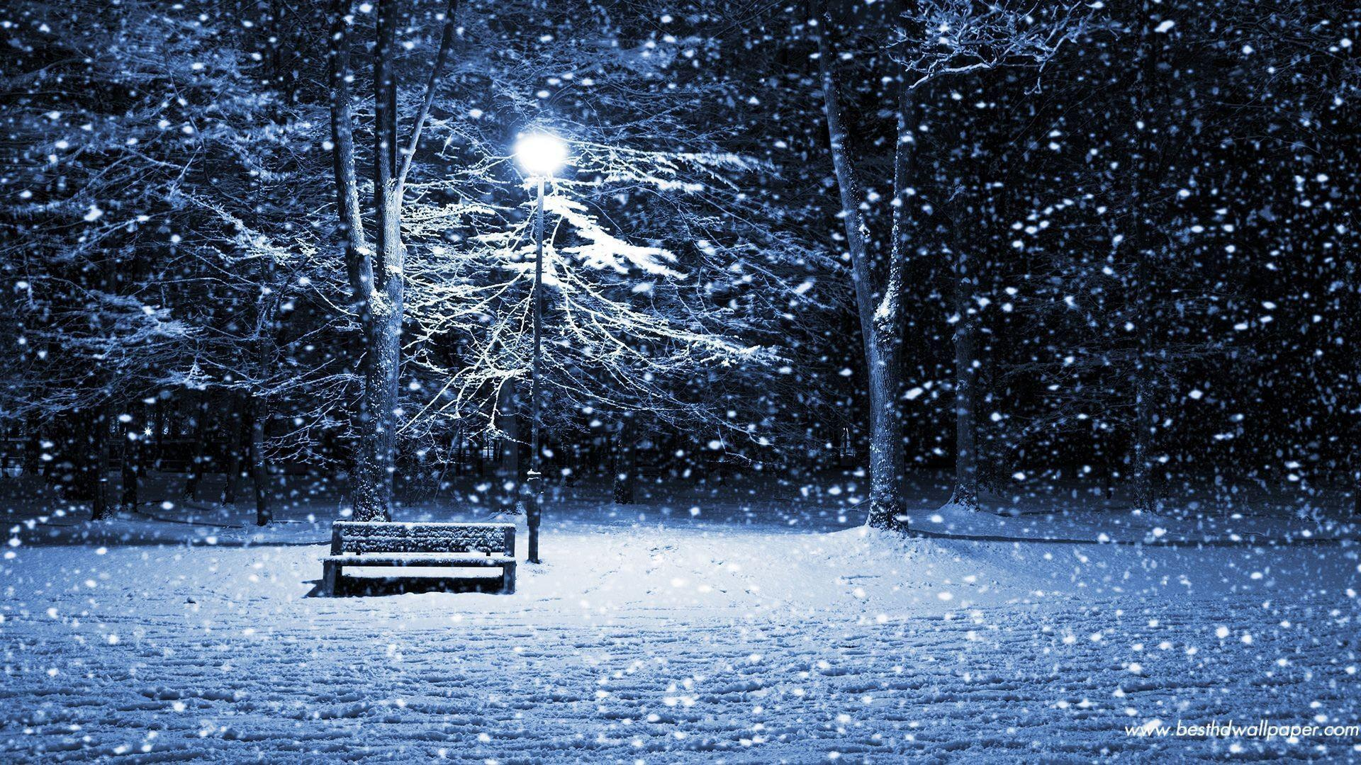 Christmas Snow Wallpaper image