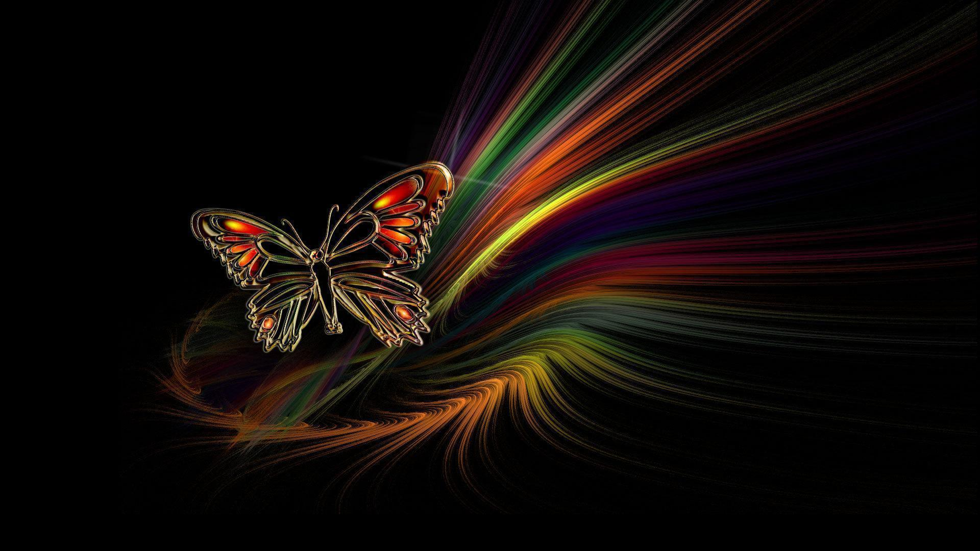 Butterfly Black Backgrounds Wallpaper Cave
