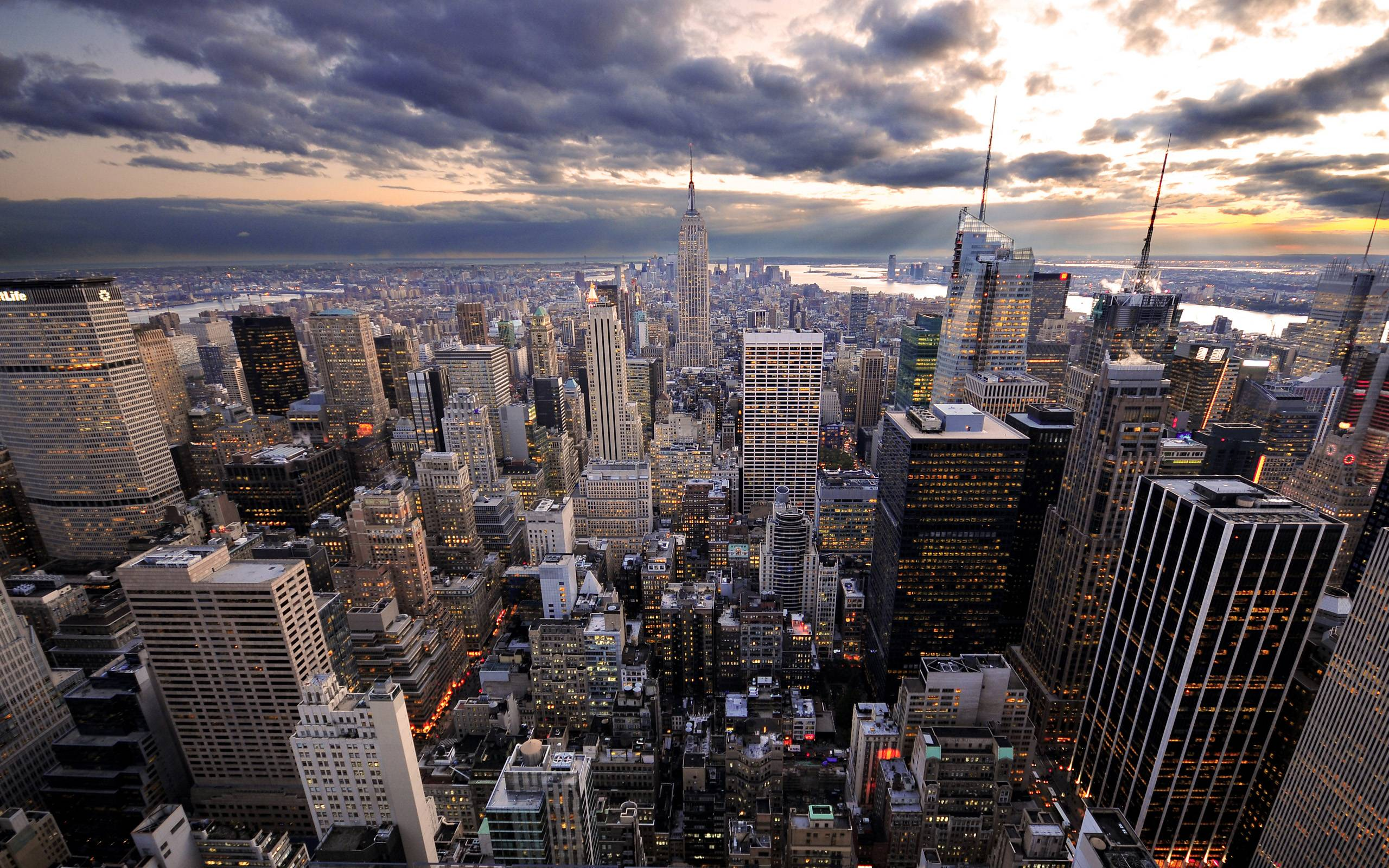 Manhattan Evening New York City Wallpapers HD