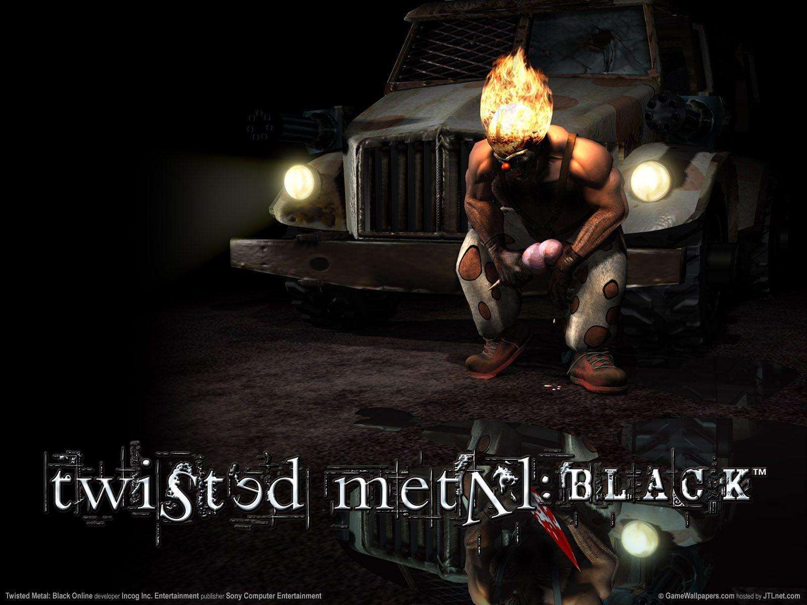Twisted Metal Black Wallpaper