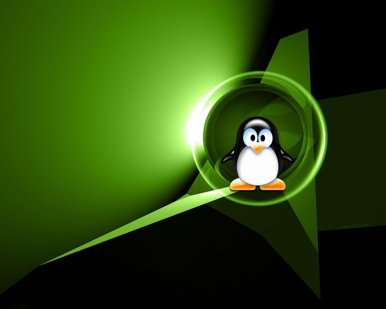 Green Tux wallpaper | Linuxers