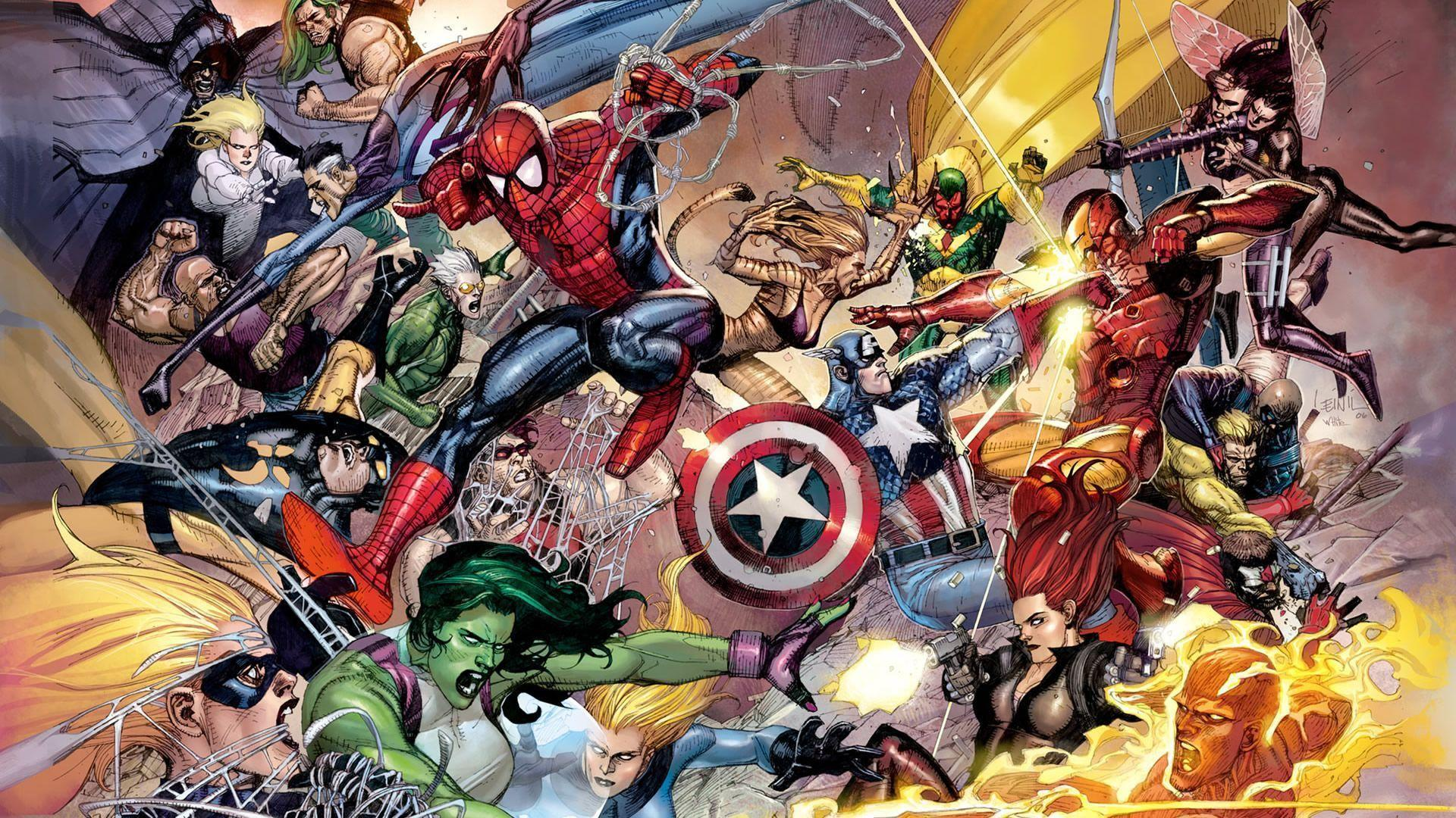 Wallpapers For > Marvel Wallpaper 1920x1080