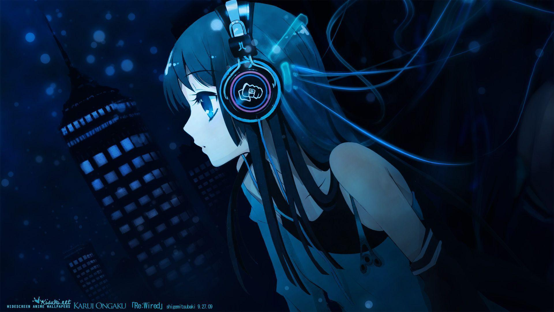 Blue Girl Anime Wallpapers Free Download Wallpaper From