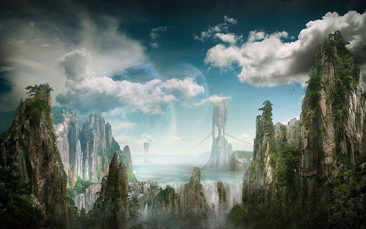Fantasy world backgrounds wallpaper cave - Fantasy background ...