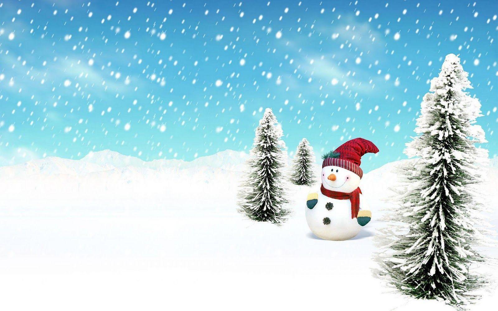Winter Snowman Wallpaper - WallpaperSafari