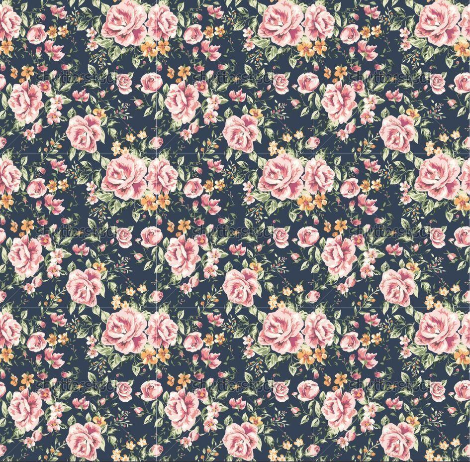 Vintage Flower B...Vintage Floral Background Pattern Tumblr