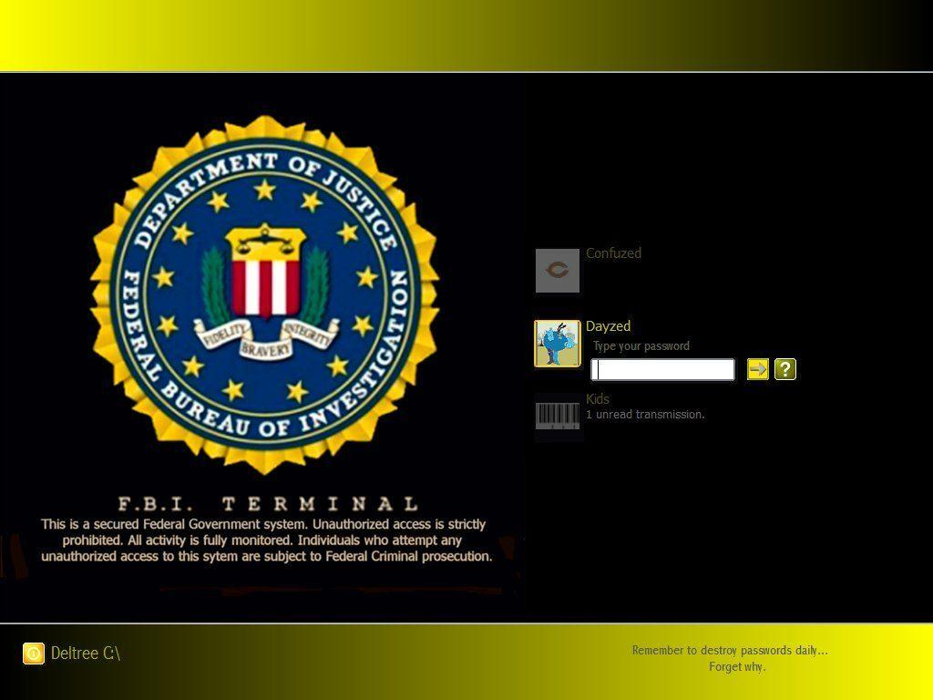 Images For > Fbi Terminal Wallpaper