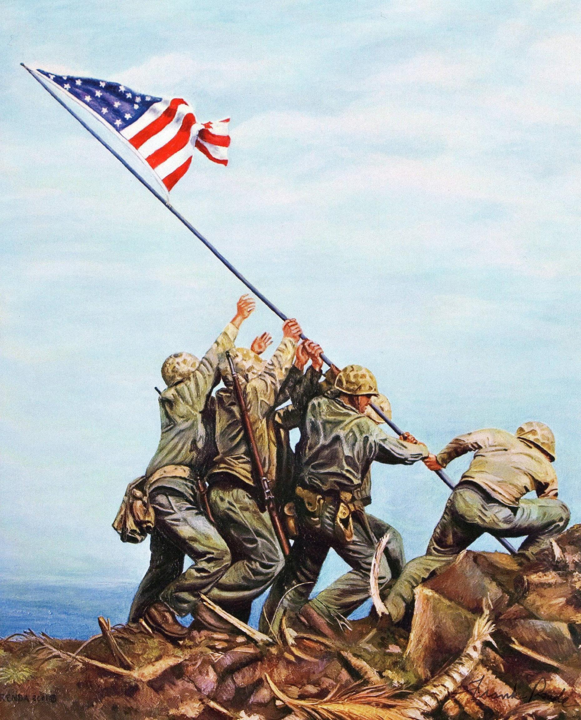 Iwo Jima Flag Raising Wallpapers - Wallpaper Cave Raising