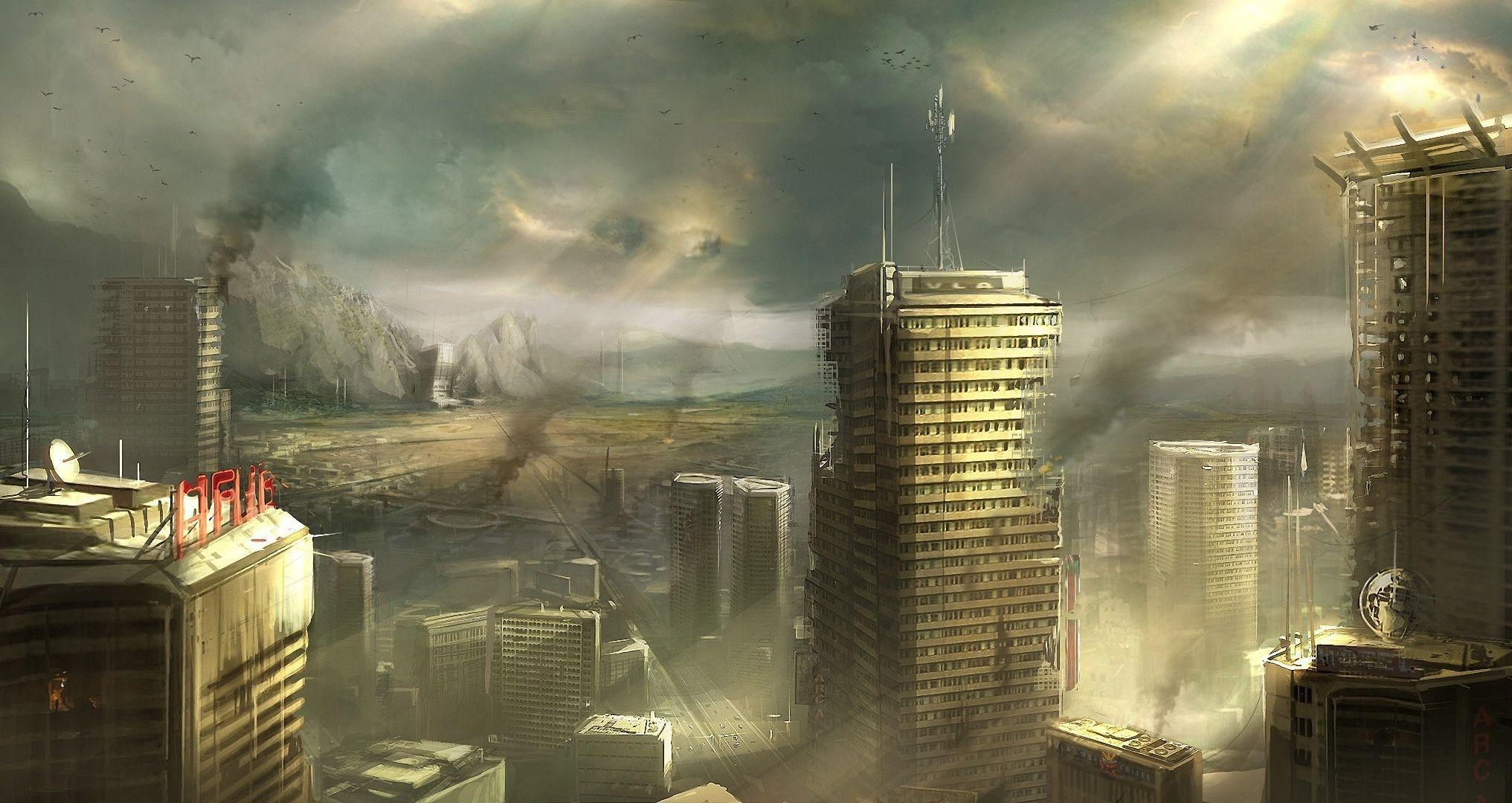 Destroyed city backgrounds wallpaper cave for In the city wallpaper