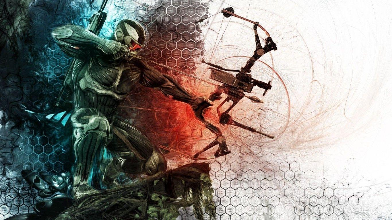 Crysis Wallpapers Archery 1366x768PX ~ Wallpaper Archery Hd #87691