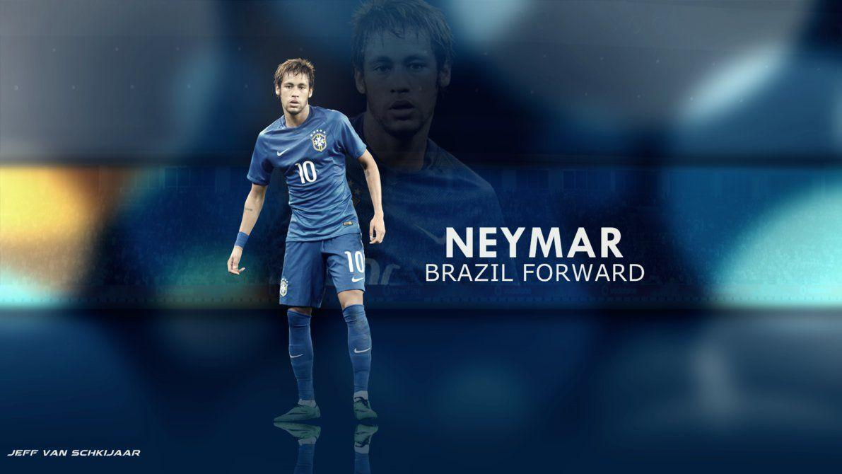 Wallpapers of Neymar Brazil 2014 in stock photo