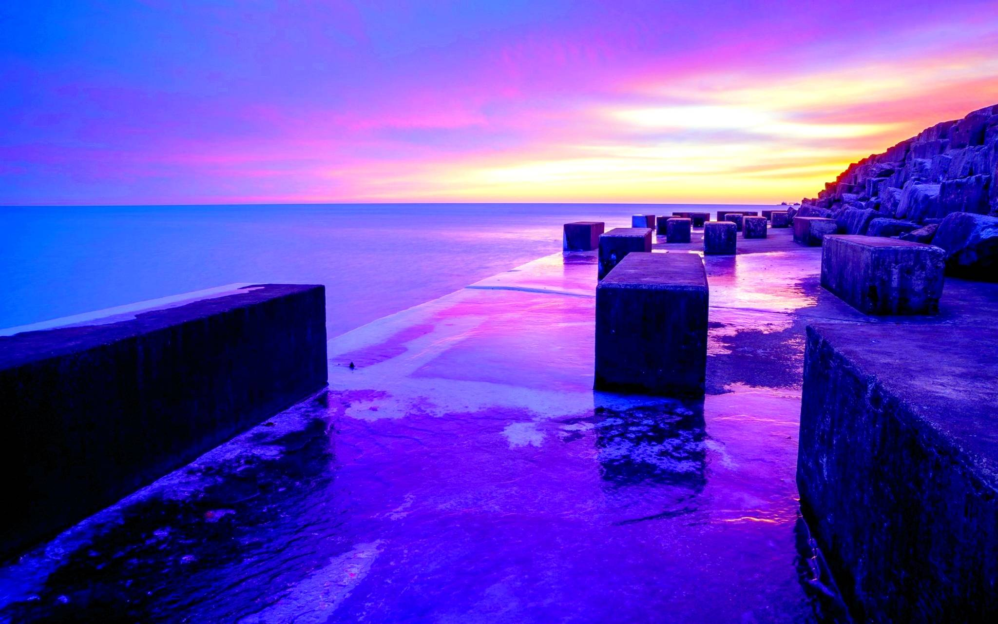 Purple Sunset Wallpapers Wallpaper Cave