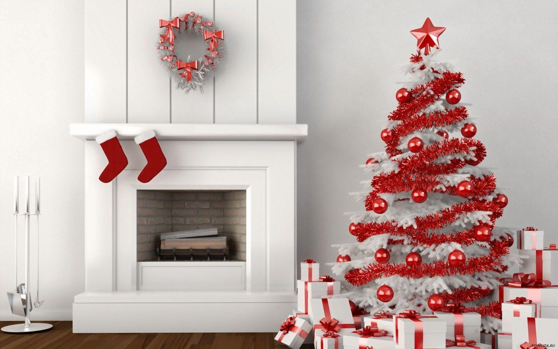 Fireplace And Christmas Tree Wallpapers