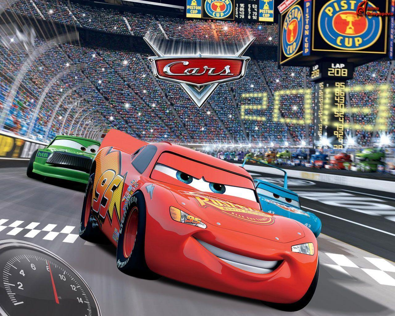 Disney Cars 2 Cartoon Desktop Background HD | Cartoons Images