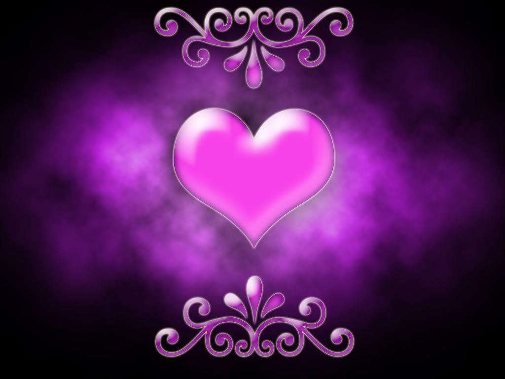 Purple Love Wallpaper: Purple Heart Backgrounds