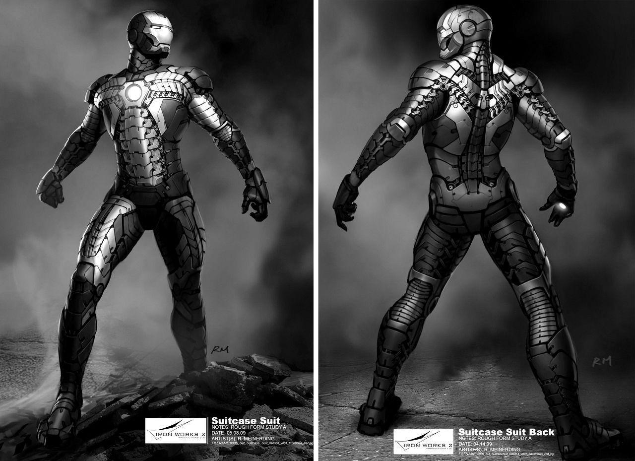 Iron Man 3 Suit Black and White Wallpapers