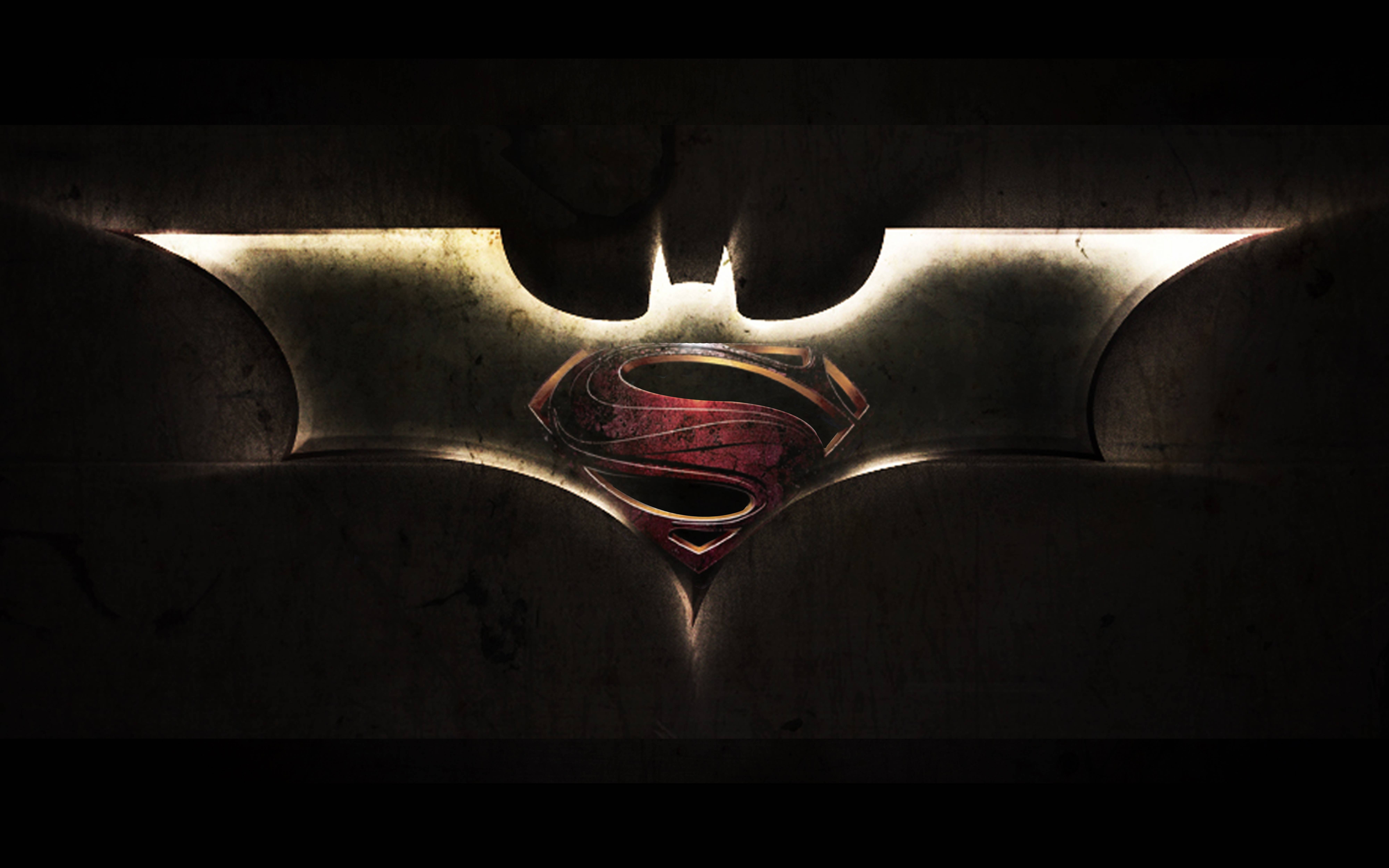 Batman Mix Superman Logo Wallpaper
