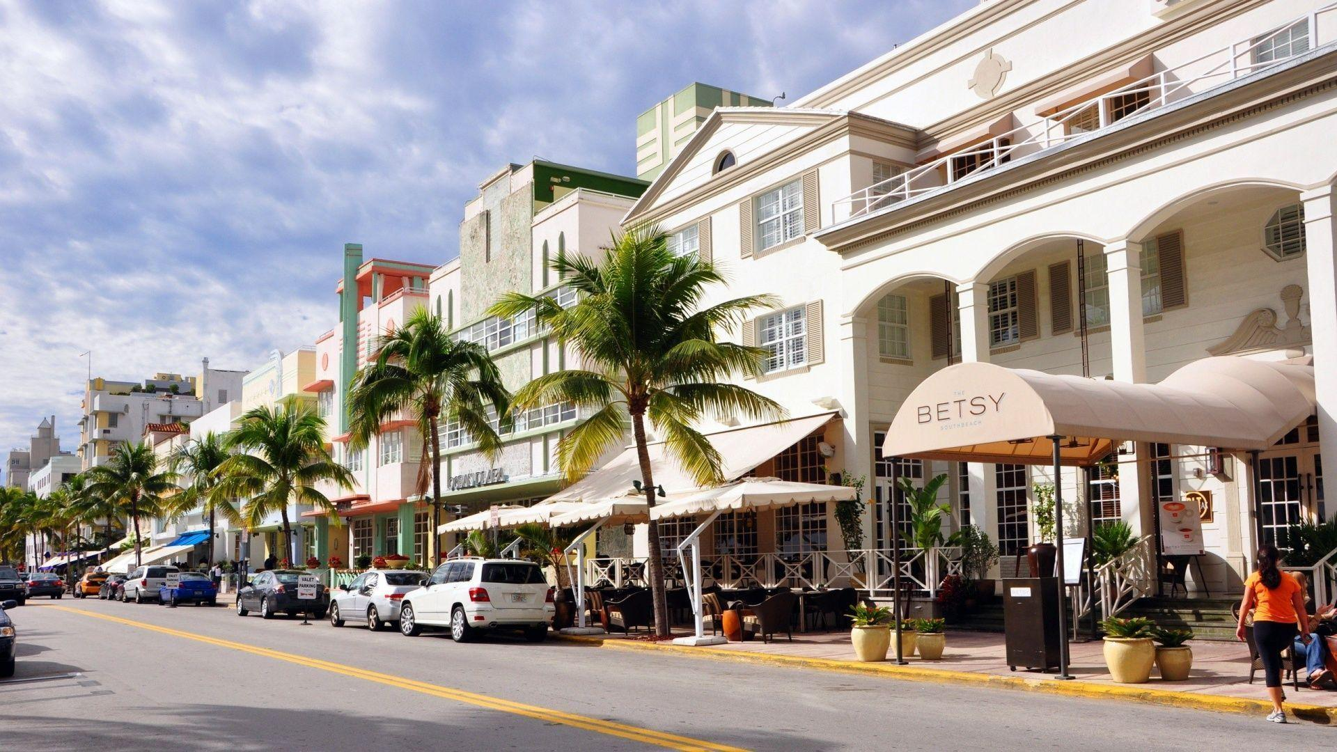 Miami Beach Ocean Drive (id: 192666) | WallPho.com