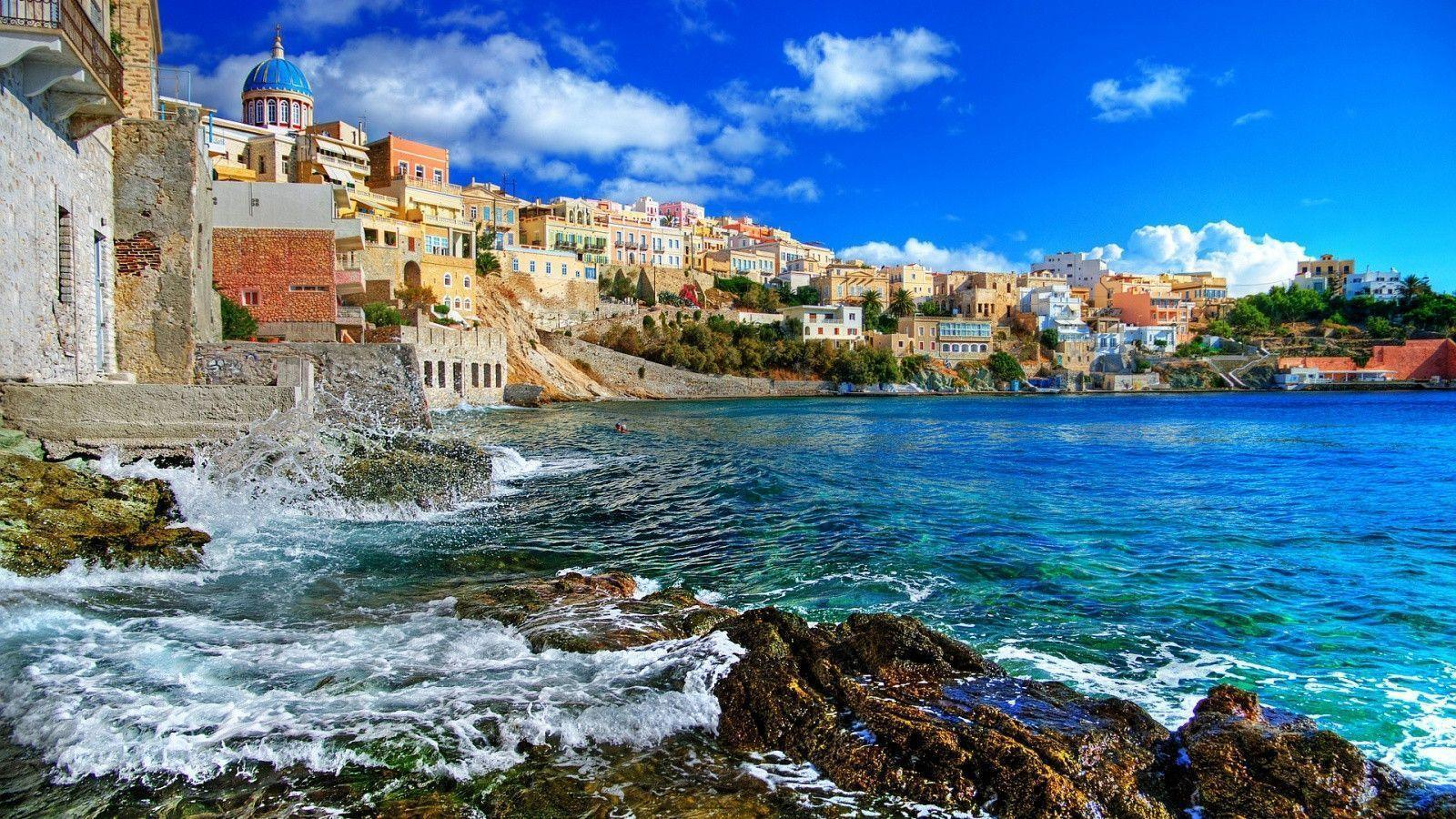 1600x900 Greece Syros Island Wallpaper