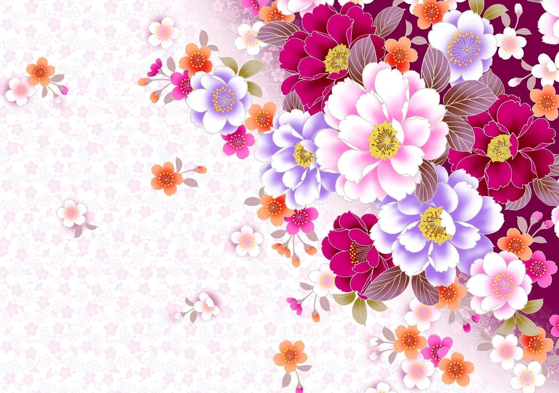 colorful floral background patterns - photo #36