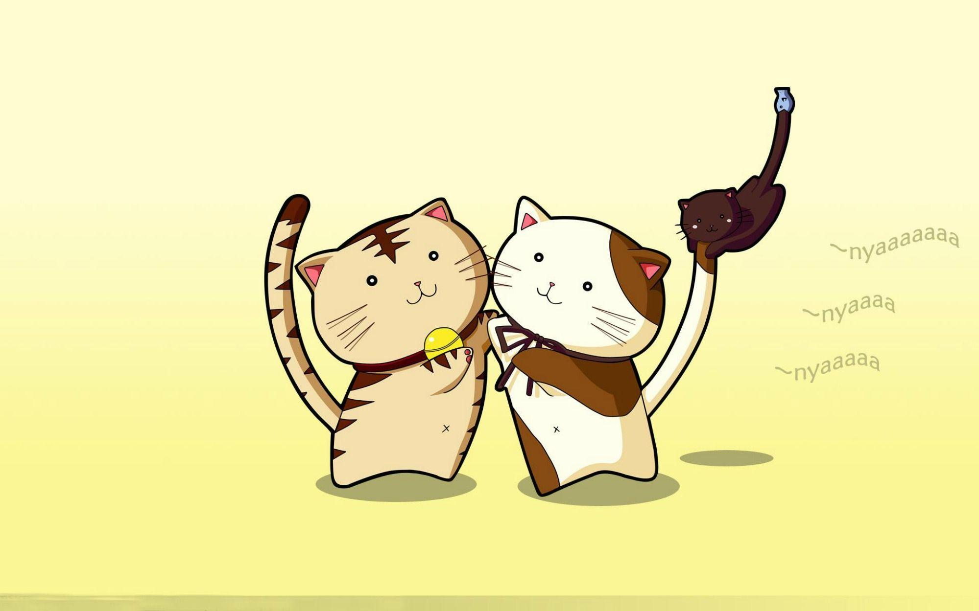 Cartoon cat wallpapers wallpaper cave - Cat wallpaper cartoon ...