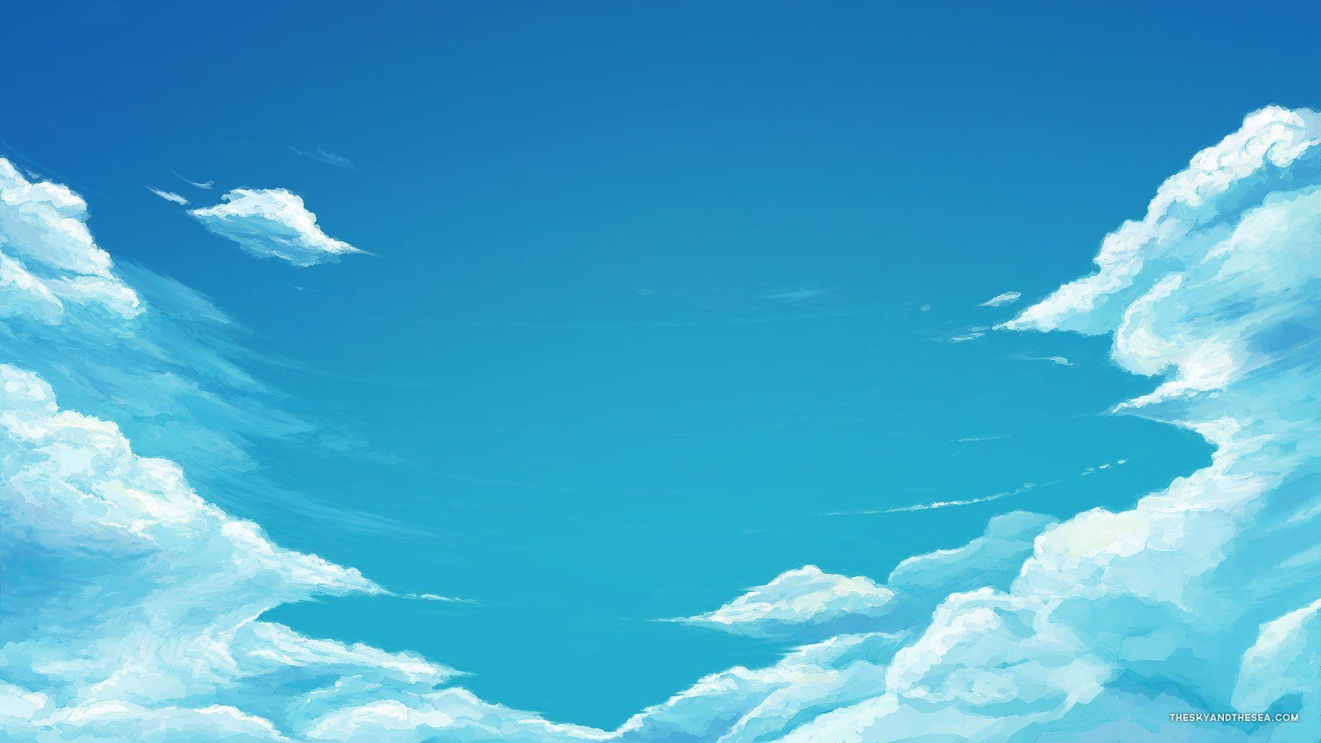 Sky blue wallpapers wallpaper cave - Blue anime wallpaper ...