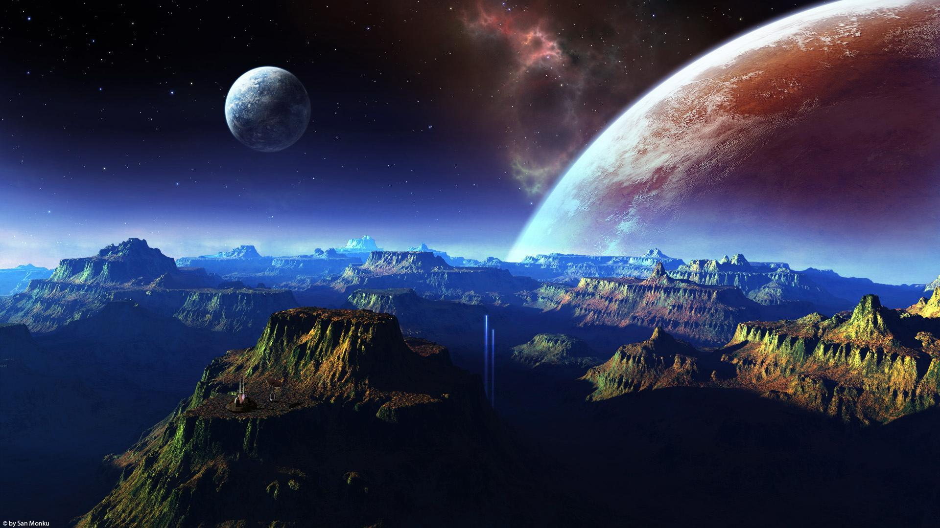 space 1080p wallpaper landscape - photo #38