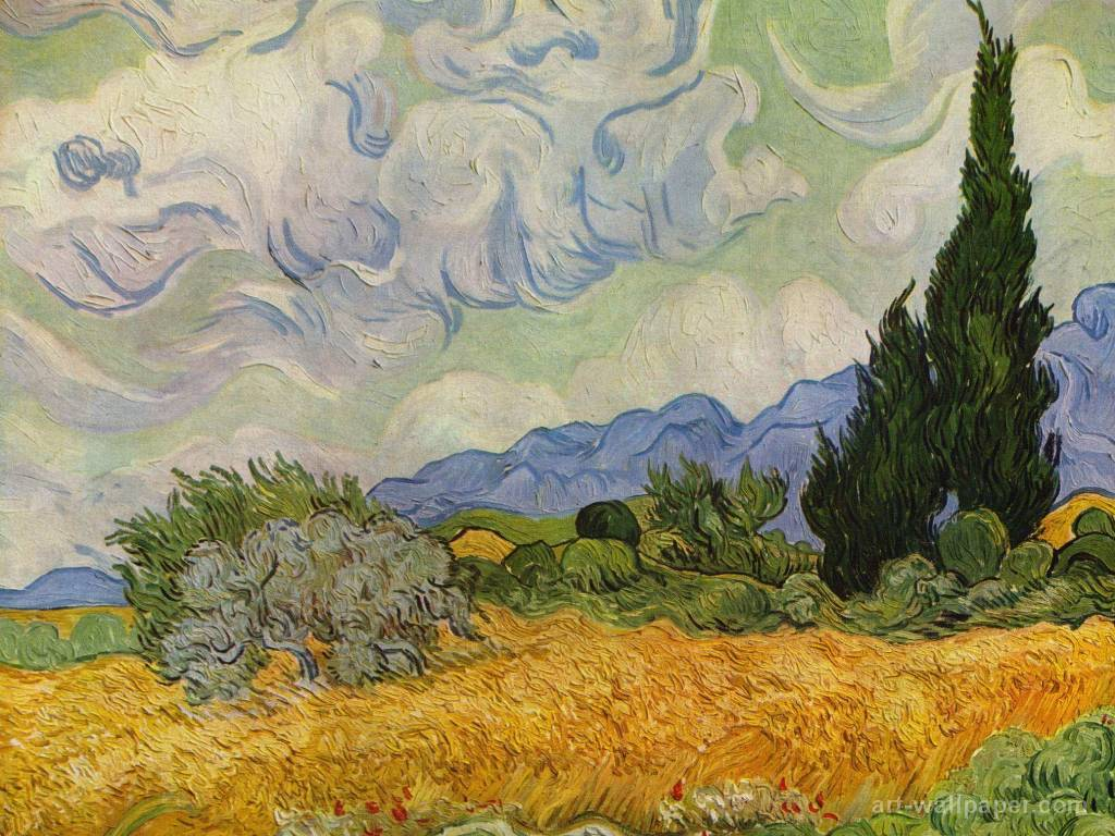 Van Gogh Wallpaper Border 12900 Full HD Wallpaper Desktop - Res .
