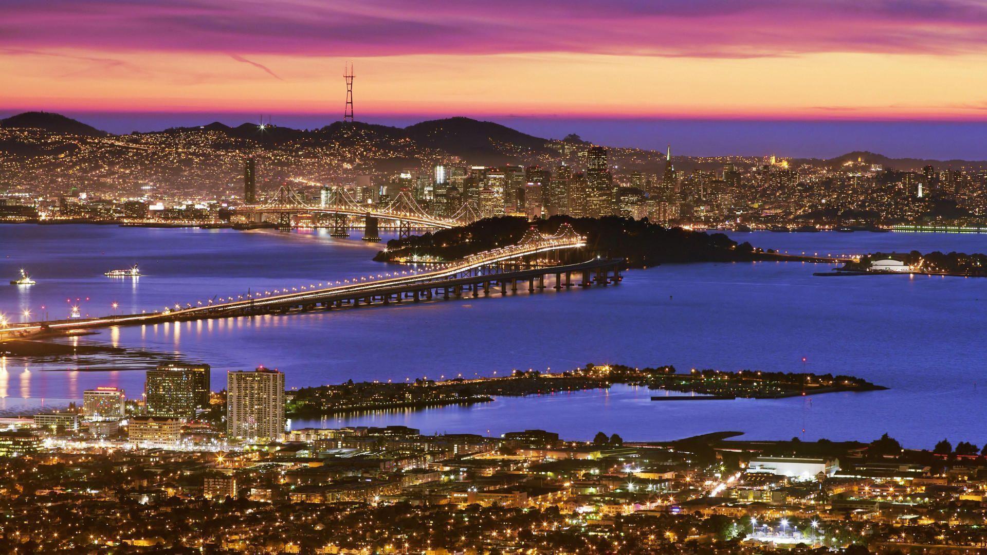 San Francisco At Dusk - HD Travel photos and wallpapers