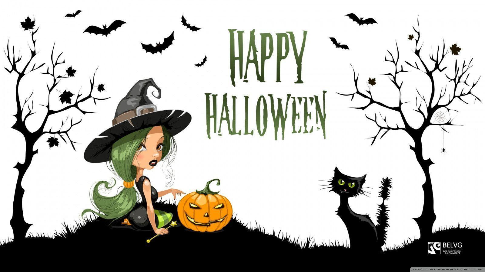 animated halloween wallpaper witches - photo #13