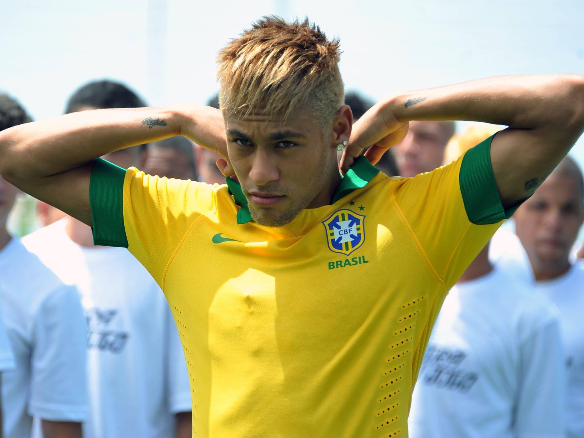 Neymar backgrounds brazil flag 2015 wallpaper cave for Neymar 2014 coupe de cheveux