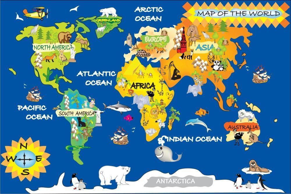 ... Sticker Gambar Peta Dunia