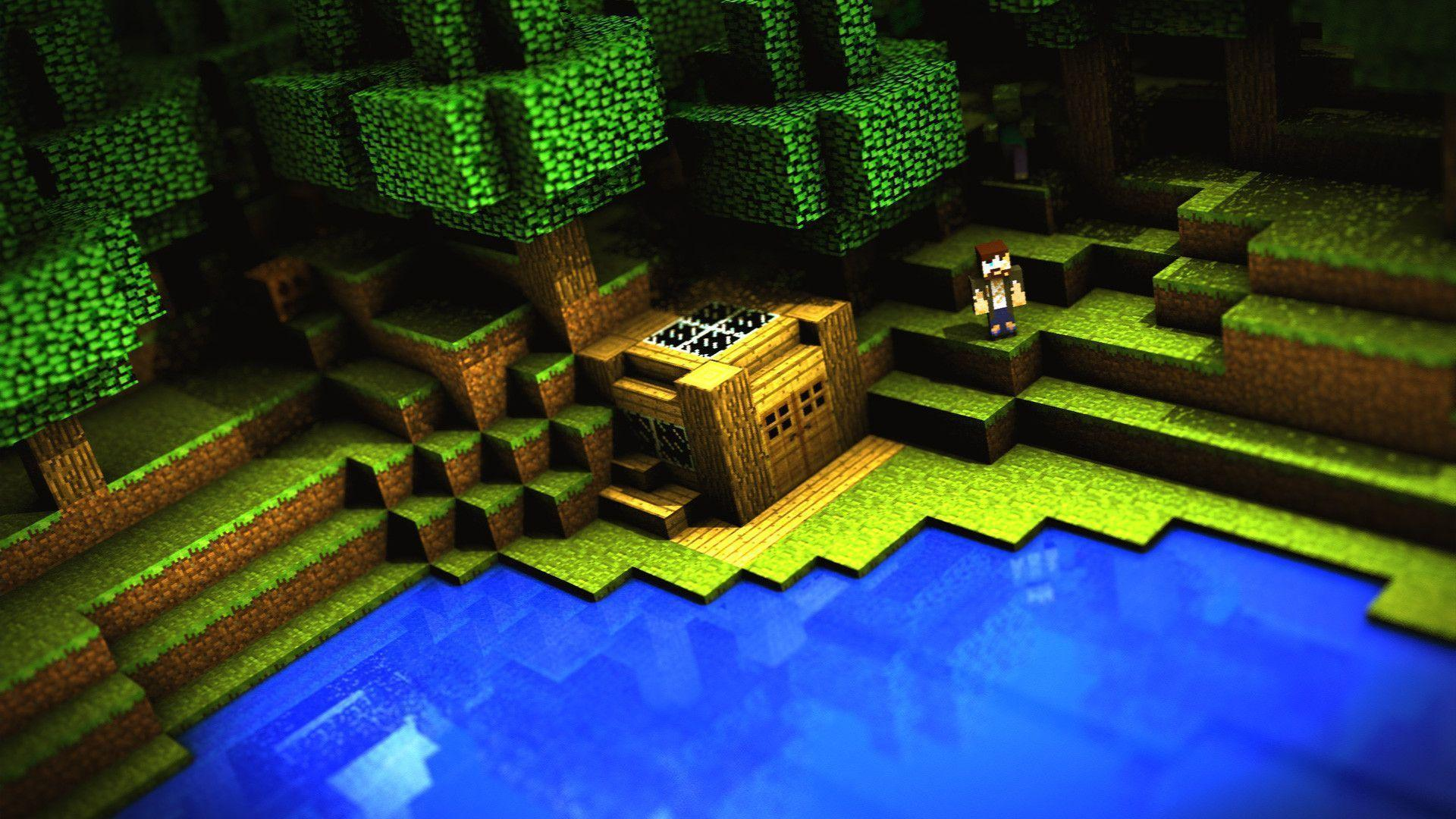 minecraft desktop backgrounds wallpaper cave