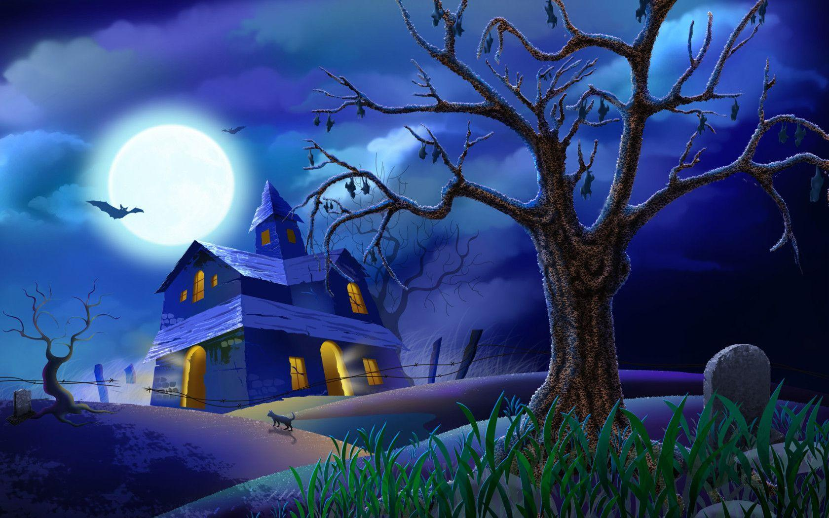Halloween wallpapers screensavers wallpaper cave - Scary halloween screensavers animated ...